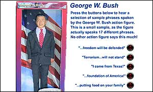 Talking George W Bush action figure