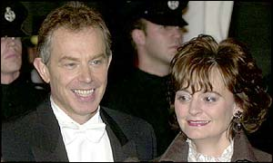 Tony and Cherie Blair in November