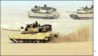 US tanks exercise in Kuwait