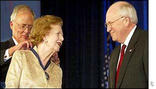 Lady Thatcher and Dick Cheney