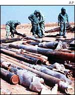 Sarin rockets destroyed by Iraq after the Gulf War