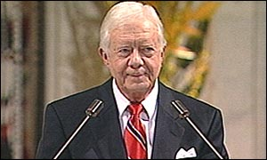 Jimmy Carter speaking in Oslo