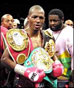 Triple middleweight champion Bernard Hopkins