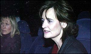 Cherie Blair accompanied by Fiona Millar