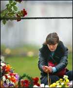Russian mourner