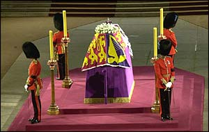 The Queen Mother's coffin