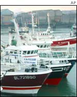 Fishing trawlers in Boulogne-sur-Mer