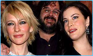 Cate Blanchett, Peter Jackson and Live Tyler