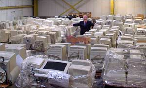 A warehouse full of computers, IBLF