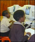South African children using the machines, IBLF