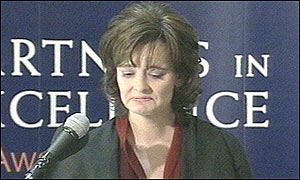 Prime Minister's wife Cherie Blair