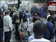 The scene shortly after the bomb