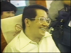 Benigno Aquino on flight back to Philippines
