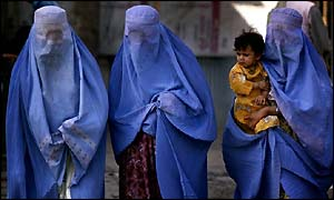 women in kabul with burqas