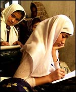 Girl in Afghan school