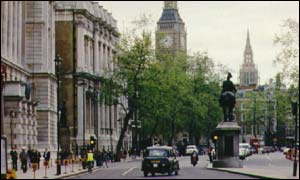 Whitehall, central London