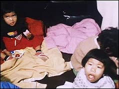 Vietnamese children at Heathrow