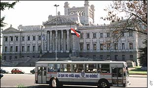 Imagen del Parlamento de Uruguay.