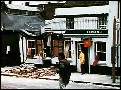 The Horse and Groom pub - damage to the bar area was extensive