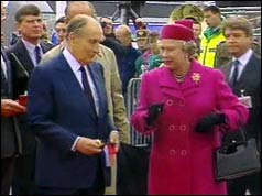 President Mitterand and the Queen