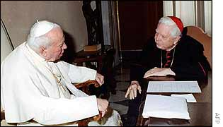 Pope John Paul II with Cardinal Law