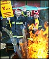 Firefighters on a picket line