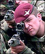 British soldiers from the 1st Battalion, the Parachute Regiment
