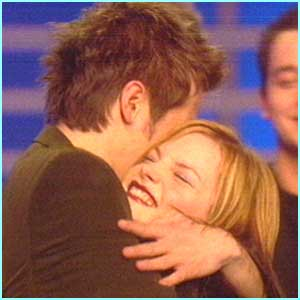 David gives runner-up rock chick Sinead a long hug