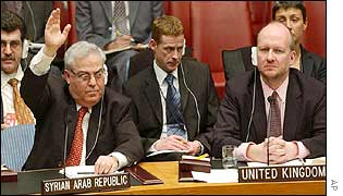 Syria's UN ambassador votes against the resolution