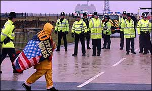 Protesters at Fylingdales in November this year
