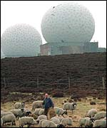 Picture of former radar spheres (taken in 1994)