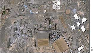 Satellite image of nuclear plant construction at Natanz