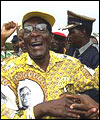 Re-elected President of Zimbabwe Robert Mugabe