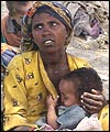 People in the famine-threatened Ethiopian village of Dir Sakar