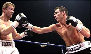 Calzaghe blew away his outclassed challenger after 39 seconds of the second round