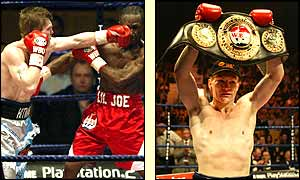 Ricky Hatton shows off the power that keeps him WBU light-welterweight champion