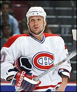 The Montreal Canadiens Richard Zednik