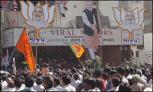 BJP supporters in Gujarat