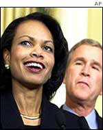 Condoleezza Rice and George Bush