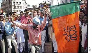 BJP activists cheer 15 December