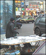 A CD seller in Moscow