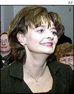 The prime minister's wife, Cherie Blair