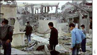 Destroyed buildings in Gaza