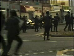 Photograph of riots in Portadowm, Armagh