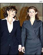 Cherie Blair with Syria's first lady Asma