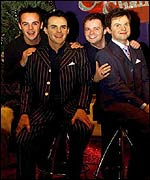 Ant and Dec with their waxwork doubles