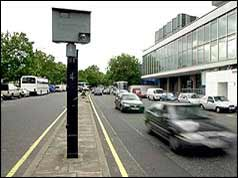 Speed camera in London