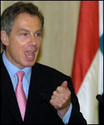 Tony Blair in Damascus in October 2001
