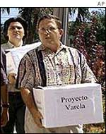 The Varela petition being delivered Cuba's National Assembly