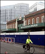 Spitalfields market and a nearby office development
